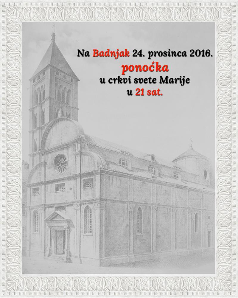 Ponoćka na Badnjak 24. prosinca 2016.